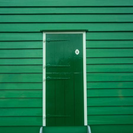 Backdrop: Grüne Tür