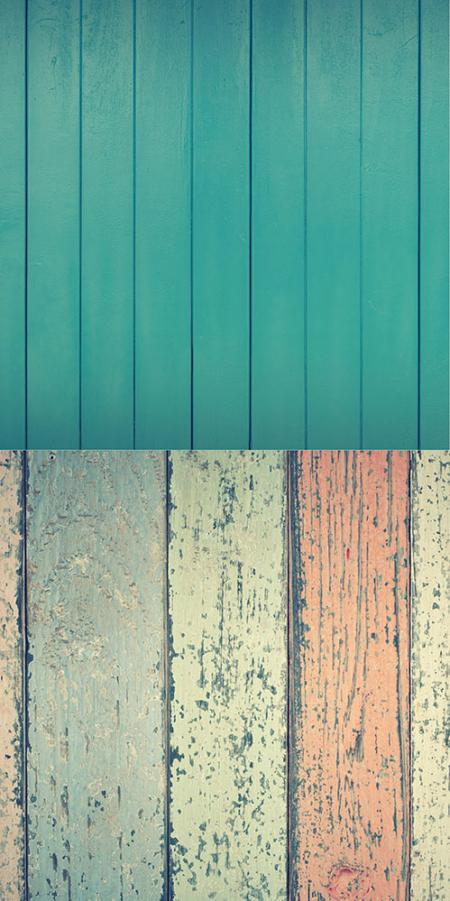 2in1 Backdrop türkis-bunte Holzstruktur