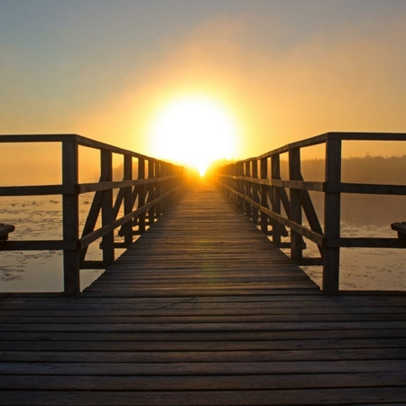 Backdrop: Holzsteg Sonnenuntergang
