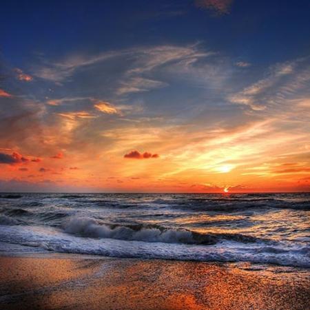 Backdrop: Sonnenuntergang am Strand