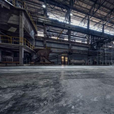 Hintergrund Fabrik Betonboden